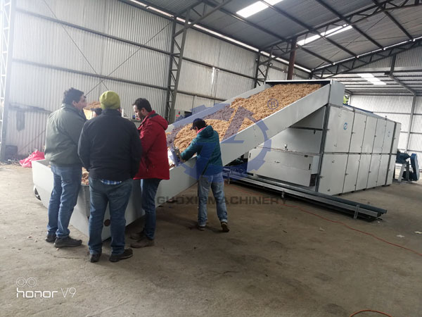 Chile Sphagna Moss Drying Customers Working Site