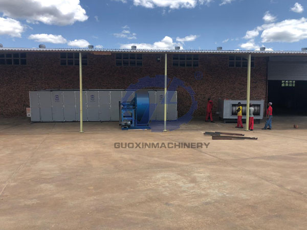 South African pepper drying equipment working site