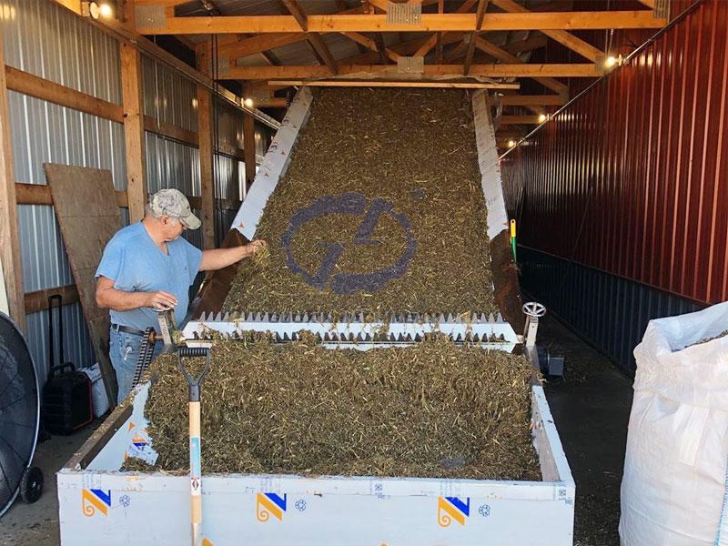 hemp drying machine