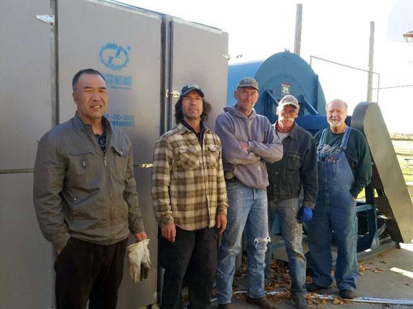 hemp processing equipment working site