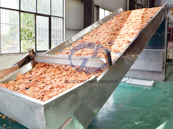 Continuous cassava dehydration and dryer