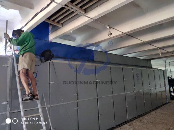 Lithuania customer hemp dryer installation site