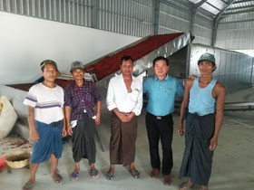 chili drying processing line was completed in myanmar