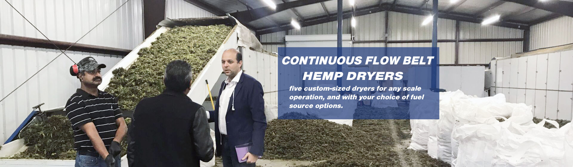 continuous flow belt hemp dryers
