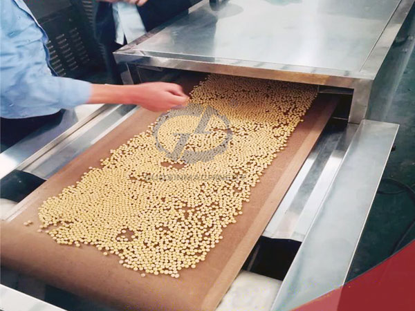 Soybean drying and curing
