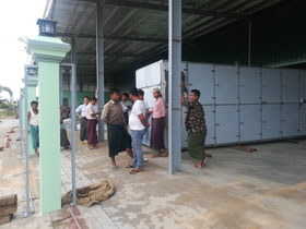 chili drying processing line in Myanmar